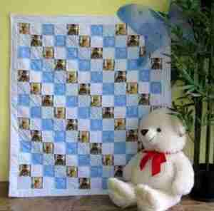 handmade and homemade baby quilt