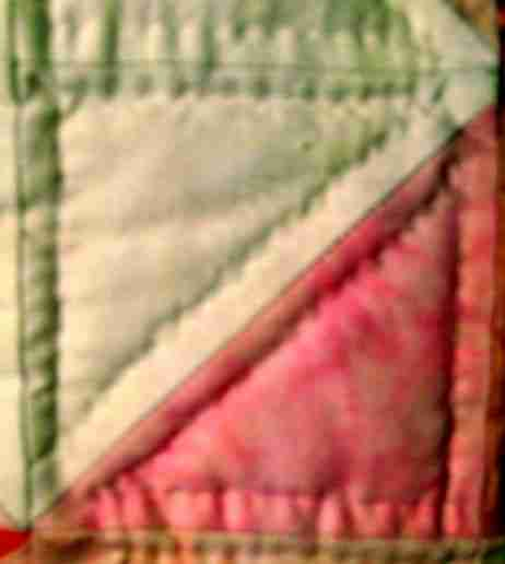 handmade and homemade baby quilt stitches