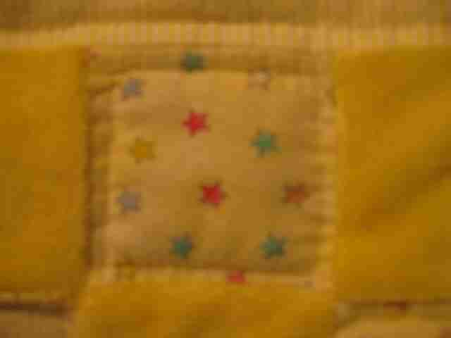handmade and homemade baby quilt Hand quilted Stitches