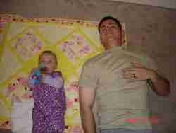 Daddy and daughter handmade baby quilts