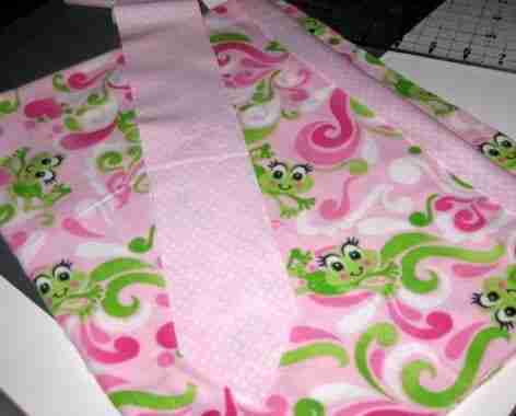 My new baby quilt with bias binding