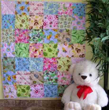 animal I Spy quilt for a baby shower gift