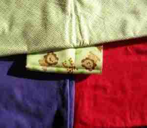 Cross color wheel baby quilts