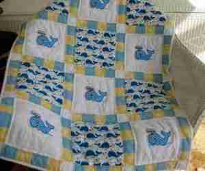Whale Tales handmade baby quilt