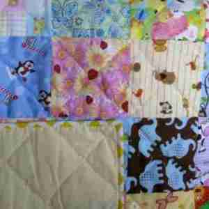 Personalized I Spy handmade baby quilts