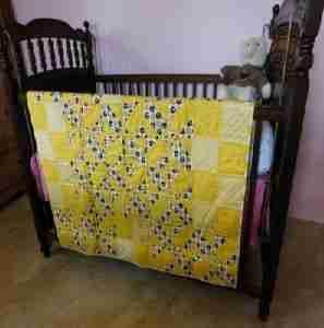 Littlest Football Fan Handmade Baby Quilt