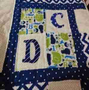 ABC Animals Handmade Baby Quilt