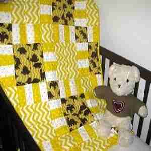 Golden Age of DInosaurs Handmade Baby Quilt
