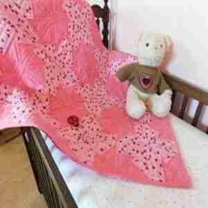 Lady Bugs Handmade Baby Quilt