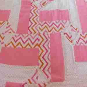 Pink a Link Handmade Baby Quilt