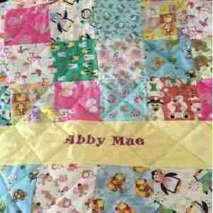 Personalized Animal I Spy Baby Quilt