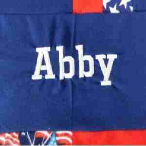 Personalized USA Baby Quilt