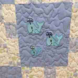 Whale of a Good Time Handmade Baby Quilt