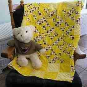 Littlest Football Fan and Friend Handmade Baby Quilt