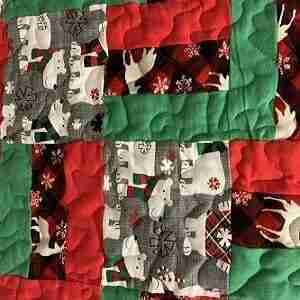 Christmas BEars Baby Quilt
