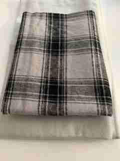 Black and White Plaid Option for Doggie Quilt