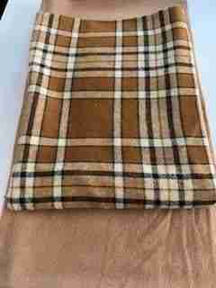 Brown and White Plaid Doggie Quilt Option