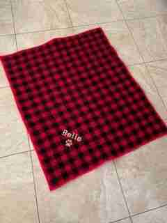 Black and Red Plaid Dog Quilt