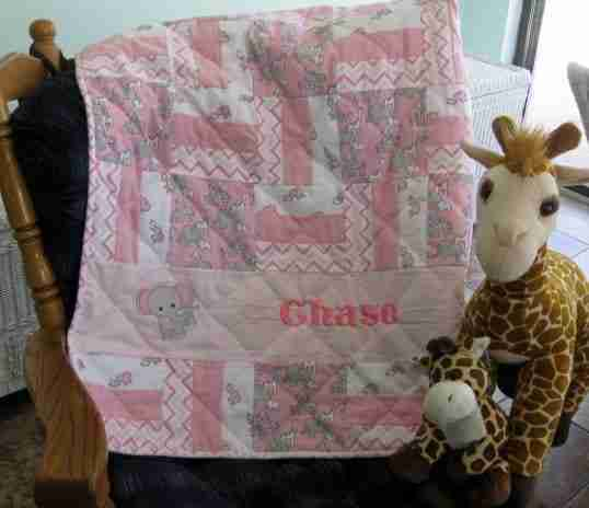 Handmade baby quilts are good news