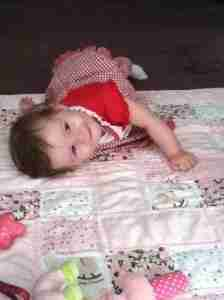 Abby on Quilt