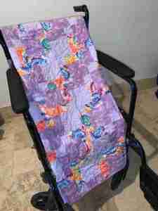 Purple Rain Handmade Wheelchair Quilt