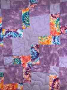 Purple Rain Handmade Wheelchair Quilt