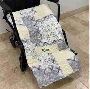 Personalized Penguins Wheelchair quilt