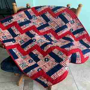 A Salute to You Wheellchair Quilt