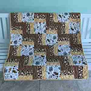 Perfect Puppy Prints Wheelchair Quilt