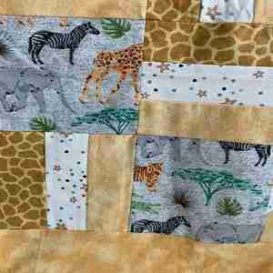 Personalized Zoo Animals Handmade Baby Quilt