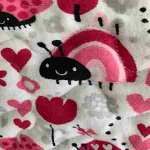 Personalized Lady Bugs Handmade Baby Quilt