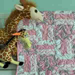 Jungle Animals Handmade Baby Quilt