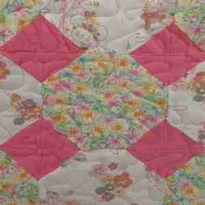Pink Peace and Love Handmade Baby Quilt