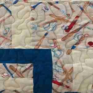 Baseball Days Handmade Baby Quilt